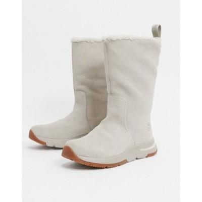 ティンバーランド レディース ブーツ・レインブーツ シューズ Timberland mabel town pull on boots in beige