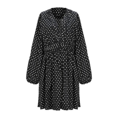 ANDAMANE ミニワンピース&ドレス ブラック M コットン 97% / ポリウレタン 3% ミニワンピース&ドレス