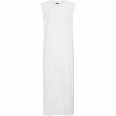 ジョゼフ Joseph レディース ワンピース ミドル丈 ワンピース・ドレス Ribbed-knit midi dress Off White