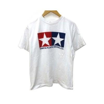 【中古】タミヤ模型 tamiya plastic model Tシャツ 半袖 プリント クルーネック コットン M 白 ホワイト NVW C111219 メンズ 【ベクトル 古着】