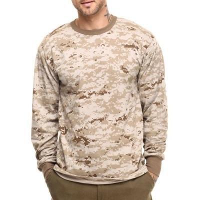 ロスコ Rothco メンズ 長袖Tシャツ トップス rothco long sleeve digital camo t-shirts Desert Digital Camo