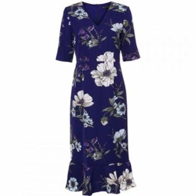 フェイズ エイト Phase Eight レディース ワンピース ワンピース・ドレス Cheryl Printed Sleeved Dress Blue