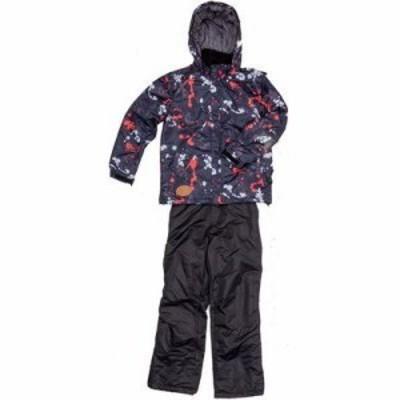 ジョイライド JOB-3337-K140 子供用 スキー スノボー ウェア 上下セット (黒色140) (対象身長125cm~145cm) (JOB3337K140)