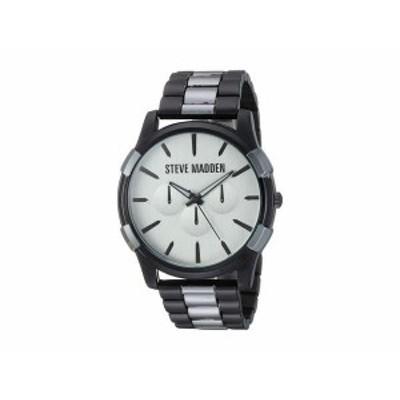 スティーブ マデン メンズ 腕時計 アクセサリー Classic Link Watch SMW246 Silver/Black