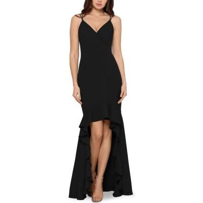 エックススケープ XSCAPE レディース パーティードレス ワンピース・ドレス High-Low Flounce Gown Black