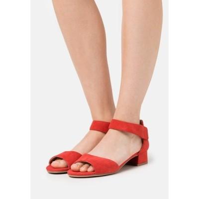 カプリス サンダル レディース シューズ Sandals - red