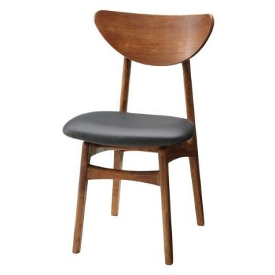 北欧・モダン カールダイニングチェア ブラウンフレーム レザー カフェ Karl Dining Chair BROWN L-type / おしゃれ