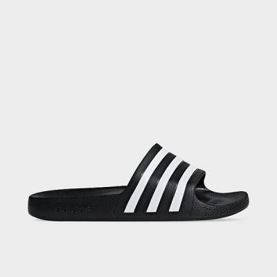 アディダス レディース サンダル adidas Originals Adilette Aqua Slide スリッパ Black/White