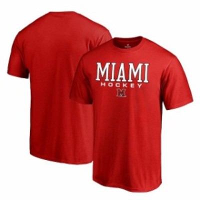 Fanatics Branded ファナティクス ブランド スポーツ用品  Fanatics Branded Miami University RedHawks Red True Sport Hockey T-Shirt