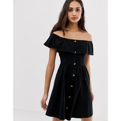 エイソス レディース ワンピース トップス ASOS DESIGN mini button through sundress with tiered skirt
