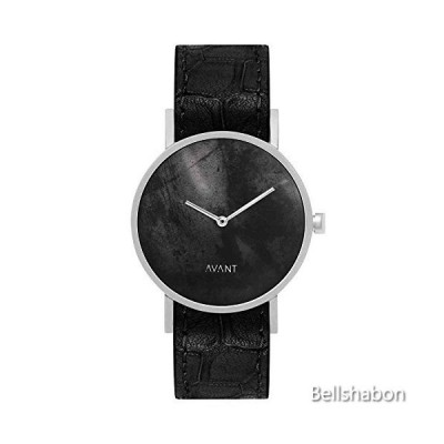 South Lane Stainless Steel Swiss-Quartz Watch with Leather Calfskin Strap, Black, 20 (Model: AW18-78) 並行輸入品