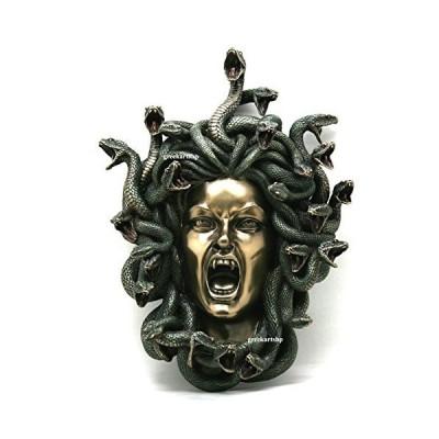 VERONESE メデューサ ヘビの頭 ゴシック 壁飾り飾り 像 ブロンズ仕上げ 14.56インチ