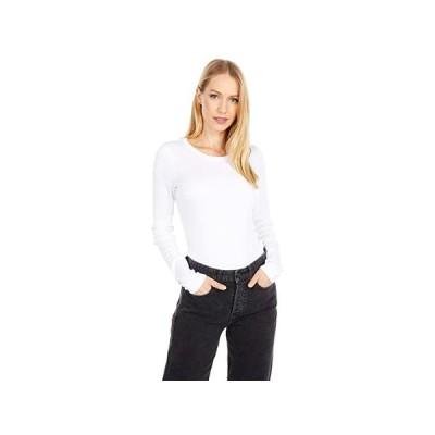 J.Crew Slim Perfect Long Sleeve T-Shirt レディース シャツ トップス White