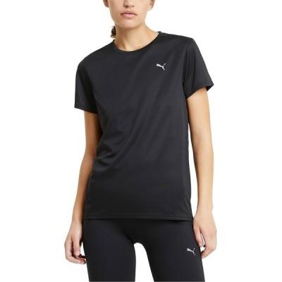 プーマ カットソー トップス レディース Women's Run Favorite T-Shirt Puma Black