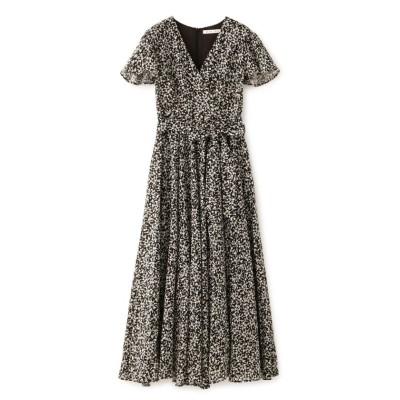 【エポカ ザ ショップ】 マドモアゼルのドレス(フラワープリント) レディース ブラック 36 EPOCA THE SHOP