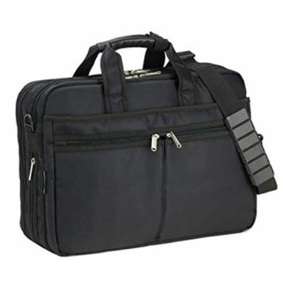 ビジネスバッグ メンズ 軽量 大容量 ブランド B4 ショルダーベルト キャリーオン マチ拡張 黒 ブラック 横幅41cm