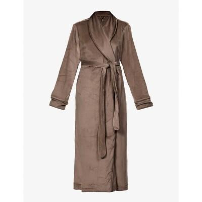 スキムズ SKIMS レディース ガウン・バスローブ インナー・下着 Velour belted stretch-velour robe AMETHYST