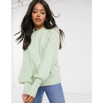 アーバンブリス レディース ニット・セーター アウター Urban Bliss volume sleeve knitted sweater in light green