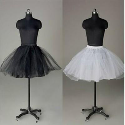 パニエ/スカートボリュームアップ/ウェディングドレス/カラードレス/ミニドレス./ホワイト・ブラック/qc3