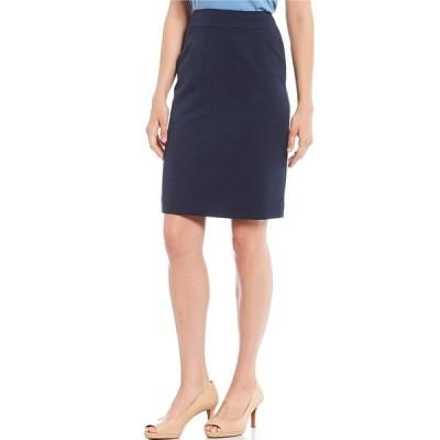 アレックスマリー レディース スカート ボトムス Silvia Twill Machine Washable Suiting Pencil Skirt Navy