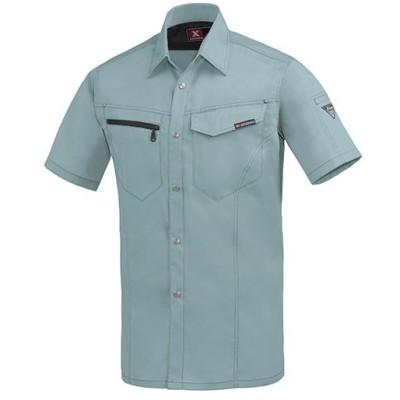 ジーベック(XEBEC) 半袖シャツ 605/ミストグリーン 1632 作業服 作業着 ワークウエア ワークウェア メンズ レディース