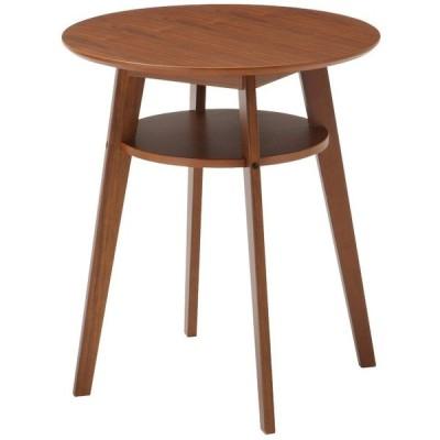 サイドテーブルラウンドテーブル DIONEカフェテーブル60 SST-990(ダークブラウン)天板・棚板:天然木化粧繊維板(W600×D600×H690)【送料無料】