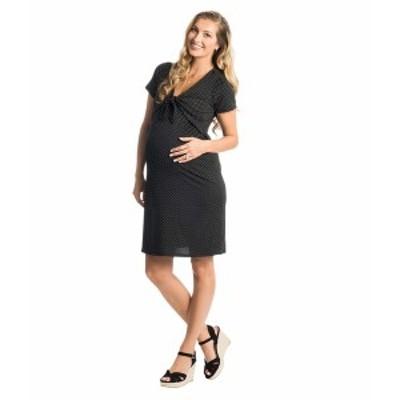 エベリーグレイ レディース ワンピース トップス Jada Maternity/Nursing Dress Black Dot
