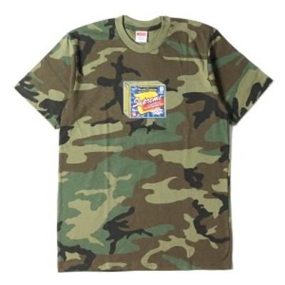 Supreme シュプリーム Tシャツ チーズパロディー ロゴ Tシャツ Cheese Tee 19AW ウッドランドカモ S 【メンズ】【中古】【新品同様】【K2