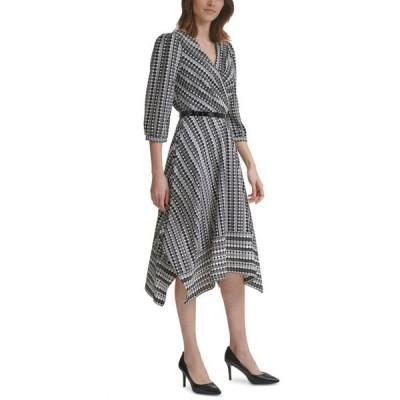 カール ラガーフェルド レディース ワンピース トップス Printed Chiffon Midi Dress