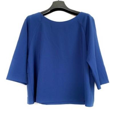 ランバンオンブルー LANVIN en Bleu 七分袖カットソー サイズ38 M レディース 美品 - ブルー フリル【中古】20210402