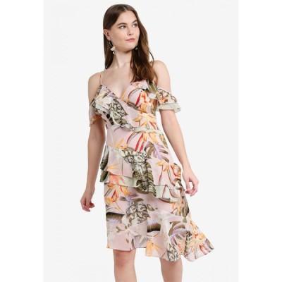 ゲス Guess レディース パーティードレス ワンピース・ドレス Floral Print Ruffled Dress Multi