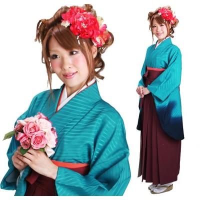 袴 レンタル 卒業式 袴セット 女性 フルセット 青色 ぼかし 入学式 はかま 着物 貸衣装 あすつく対応 往復送料無料 NT-229