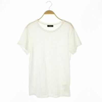 【中古】セオリー theory 18SS NEBULOUS/LEIBAY.B Tシャツ 半袖 M 白 /KN ■OS レディース