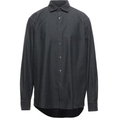 エルメネジルド ゼニア ERMENEGILDO ZEGNA メンズ シャツ デニム トップス denim shirt Black