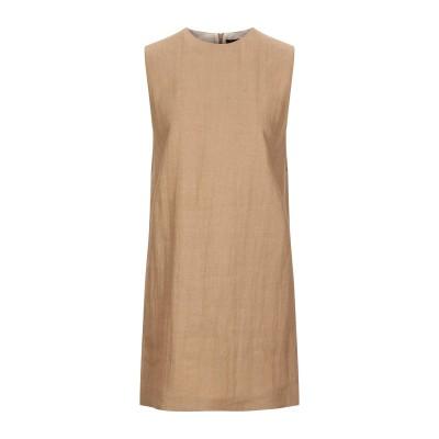 セオリー THEORY ミニワンピース&ドレス キャメル 0 ナイロン 52% / リネン 48% ミニワンピース&ドレス