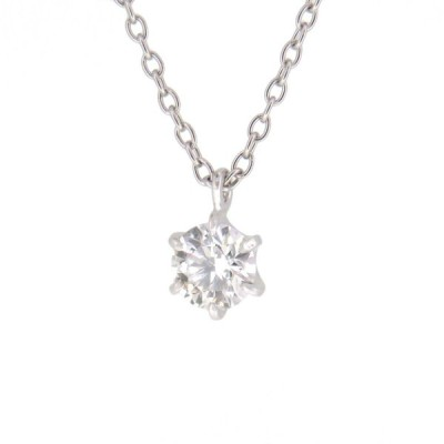ダイヤモンド ネックレス 0.3ct Gカラー SI1 3EX H&C 一粒ダイヤ ソリティア ソリテール シンプル ハートアンドキューピッド Pt900 Pt850 【ジュエリー】