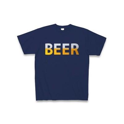 BEER Tシャツ Pure Color Print(ジャパンブルー)