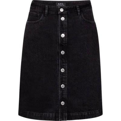 アーペーセー A.P.C. レディース ミニスカート スカート Therese high-rise denim miniskirt Faux Noir