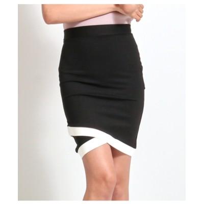 【anap Latina】 バイカラーカシュクールヘムタイトスカート