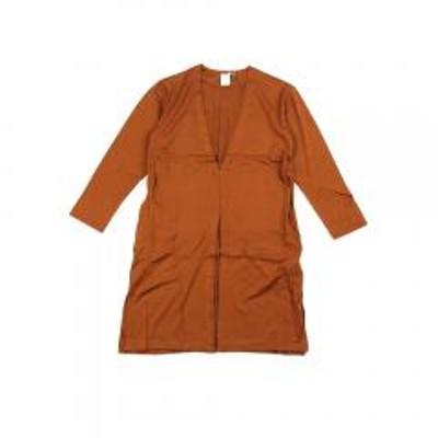 ププラPUPULA ププラ テンセル混 長袖 ロング カーディガン 373030 38(M) オレンジ(20)