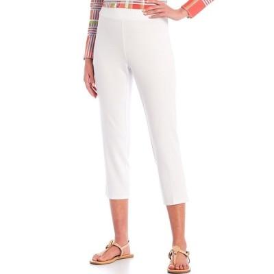 ジュードコーナリー レディース カジュアルパンツ ボトムス Lucia Ponte Knit Pull-On Ankle Pants White