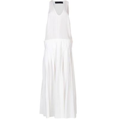 ハイダー アッカーマン HAIDER ACKERMANN ロングワンピース&ドレス ホワイト 36 シルク 100% / ポリエステル / コットン