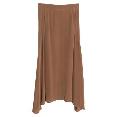 アリジ ALYSI ロングスカート ライトブラウン 40 シルク 100% ロングスカート