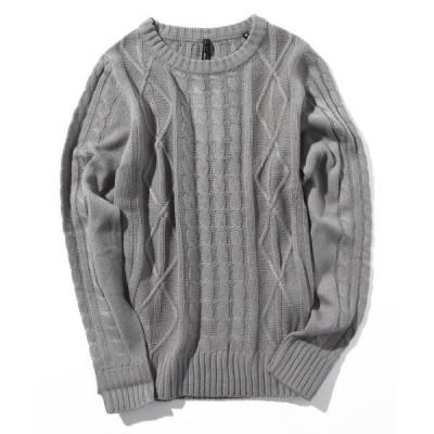 ニット アラン編みセーター