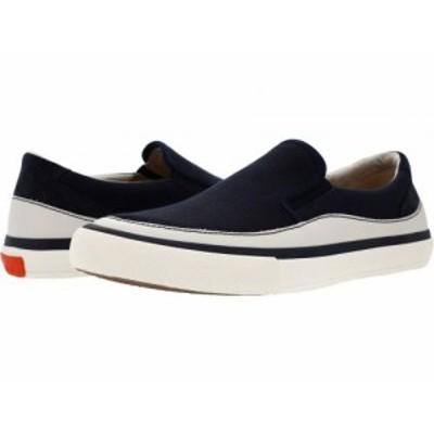Clarks クラークス メンズ 男性用 シューズ 靴 スニーカー 運動靴 Aceley Step Navy Canvas【送料無料】