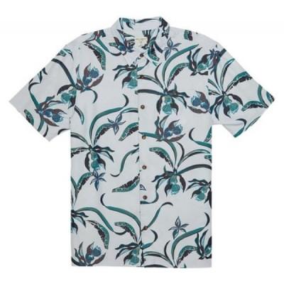 オニール O'Neill メンズ 半袖シャツ カジュアルシャツ トップス Aloha Life Button Down Shirt Ice Blue