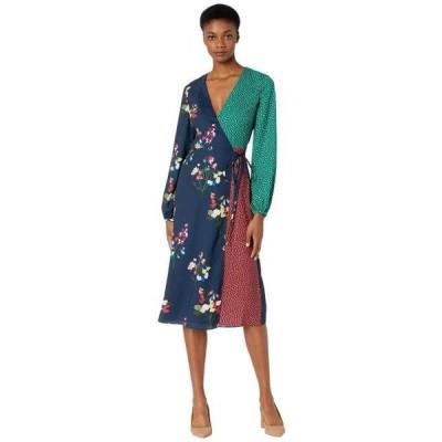 テッドベーカー ユニセックス スカート ドレス Talissa Peppermint Mash Up Wrap Dress