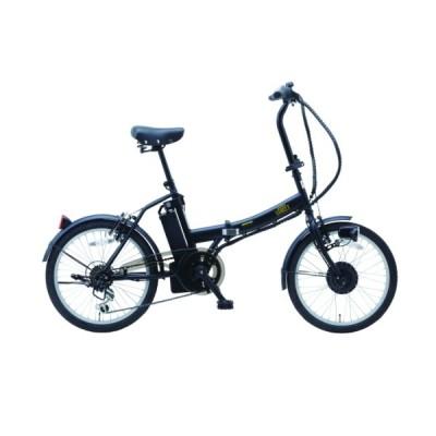 【メーカー直送品送料無料】 【代引き・同梱不可】 『SUISUI Street 20インチ 電動アシスト 折畳自転車 6段変速 BM-AZ300-BK ブラック』