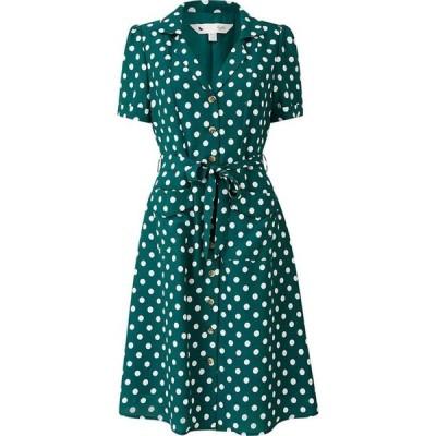 ユミ Yumi レディース ワンピース シャツワンピース ワンピース・ドレス Green Retro Spot Shirt Dress Green