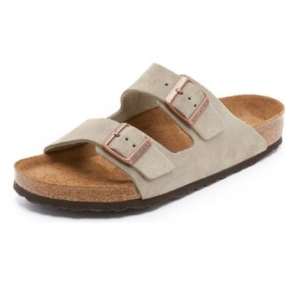 ビルケンシュトック Birkenstock メンズ サンダル シューズ・靴 soft arizona suede sandals Taupe